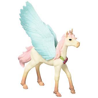 Schleich bayala 70575 dekorerad unicorn Pegasus, föl