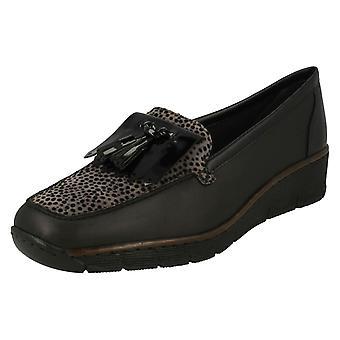 Wsuwane buty damskie Rieker na co dzień 537B6 mokasyny