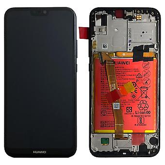 Huawei display LCD unit + frame for P20 Lite Service Pack 02351VPR black / midnight black new