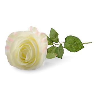 Rose weiß/Creme Kunststoff 57 cm 3-Pack