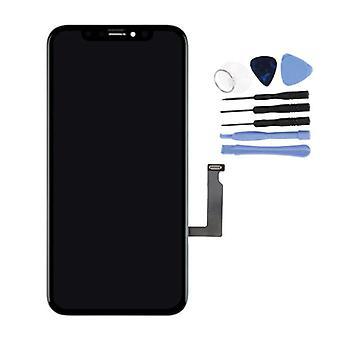 الاشياء المعتمدة® iPhone XR الشاشة (شاشة تعمل باللمس + LCD + أجزاء) AAA + الجودة - أسود + أدوات