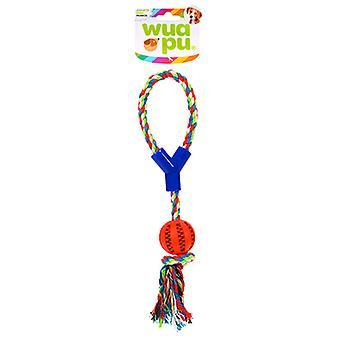 Wuapu Pelota dental 5 cm con asa 38cm (Dogs , Toys & Sport , Ropes)