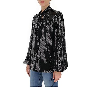 Amen Ams20233009 Femmes-apos;s Black Sequins Blouse