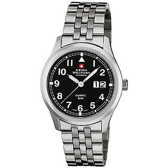 Swiss Military Quartz Analog Man Watch with SM34004.04 Stainless Steel Bracelet