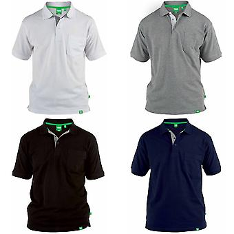 Duke Mens Grant Chest Pocket Pique Polo Shirt