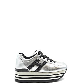 Hogan Ezbc030175 Women's Silver Leather Sneakers