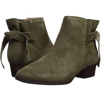 Aerosoles Women's Crosswalk Ankle Boot, Green Suede, 11 M US