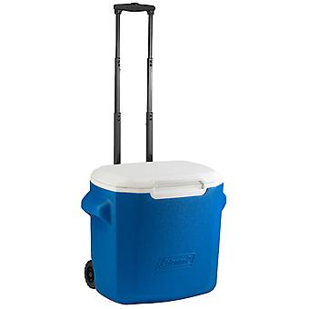 Coleman Blue 28qt performance wheeled camping cooler 26L