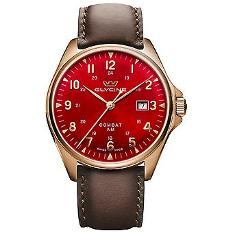 Combat classic Automatic Analog Men's Watch with Cowskin Bracelet GL0287