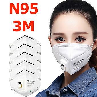 5-pack N95 3m στόμα προστατευτικό μάσκα προσώπου αναπνευστήρας 9502v