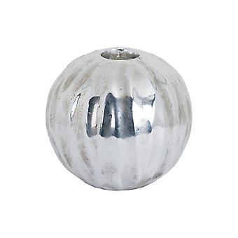 Hill Interieur große kugelförmige detaillierte metallische Keramik Teelicht Halter