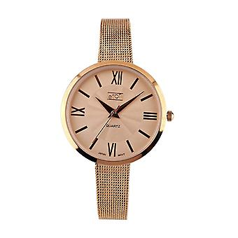 Eton Mesh Bracelet Watch, Classic Dial ToseGold Finish 3290L-RG