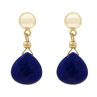 Gemshine earrings blue chalcedony drop 925 silver, gold plated or rose