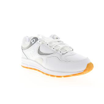 DC Kalis Lite  Mens White Leather Lace Up Athletic Skate Shoes