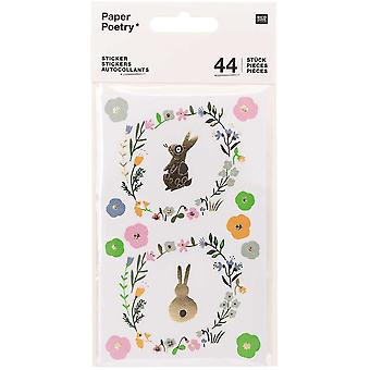 Easter Bunny Rabbit Themed Stickers Crafts x 44