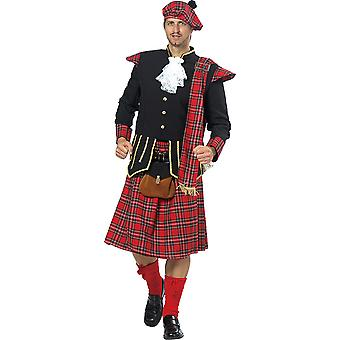 Zegel man mannen kostuum kilt hooglanden carnaval
