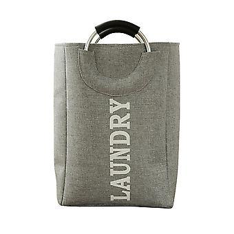 Panier pliable en coton et lin Dirty Clothes Basket avec poignée en alliage d'aluminium