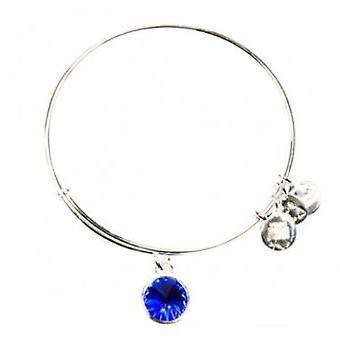 Alex and Ani September Birthstone Charm Bangle Bracelet - A09EB248S