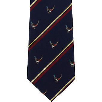 Michelsons Lontoo fasaani silkki solmio - Navy