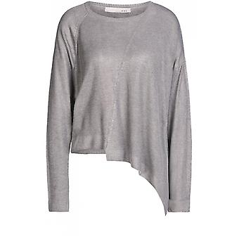 Oui Grey Metallic Sweater