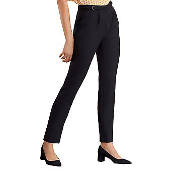 Brooks Brothers Women's Wool-Blend Hopsack Pleated Pants