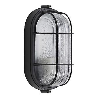Biard Outdoor Oval Bulkhead Wall Security Light Caged Garden Lamp IP54