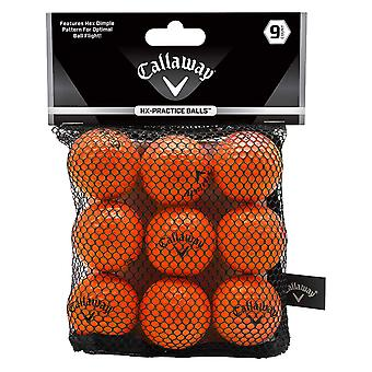 Callaway HX Pratique Golf Balls 9 Pack Orange