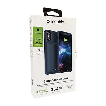 Mophie Juice Pack Access 2000mAh Wireless Battery Case for iPhone Xs/X - Blue