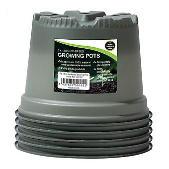 13cm Bio-based Growing Pots Packung mit 5