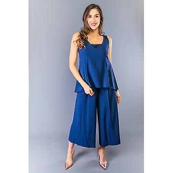 Twinset Blue Navy Jumpsuit Mid Rise Dress