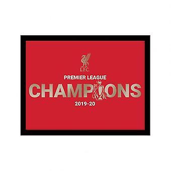 ليفربول بطل الدوري الإنجليزي الممتاز صورة معدنية 10 × 8