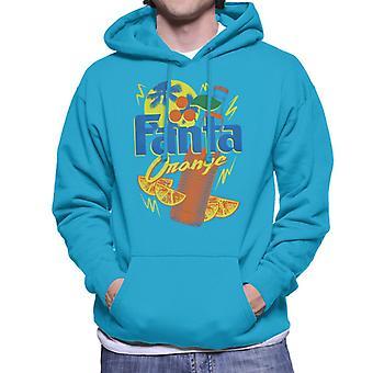 Fanta Orange Botella 90s Verano Hombres's Sudadera con capucha