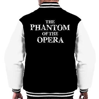 The Phantom Of The Opera Shattered Text Logo Men's Varsity Jacket