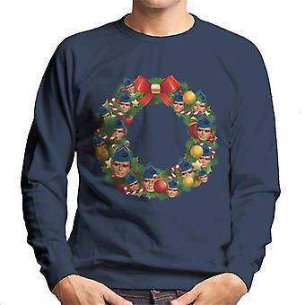 Thunderbirds Christmas Wreath Multiface Gordon Men's Sweatshirt