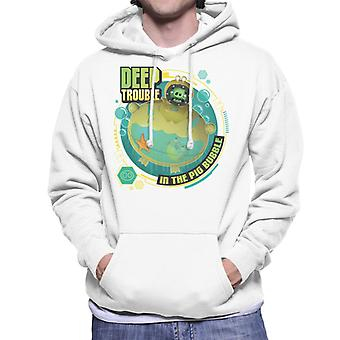 Angry Birds Deep Trouble Men's Hooded Sweatshirt