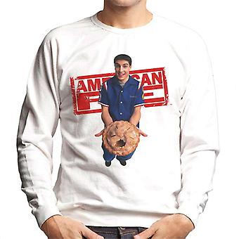 American Pie Jim Holding Eaten Pie Men's Sweatshirt