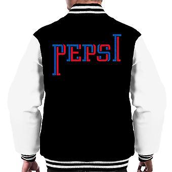 Pepsi Zwei-Ton-Text Men's Varsity Jacke