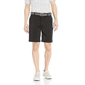 Essentials Men's Standart Klasik-Fit Streç Golf Kısa, Siyah, 32