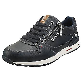 Mustang Low Top Side Zip Mens Casual Trainers na Marinha