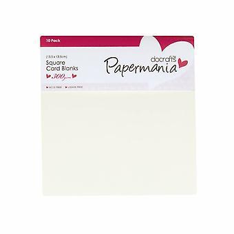 Papermania quadratische Karten & Umschläge Creme (10pk) (PMA 150201)