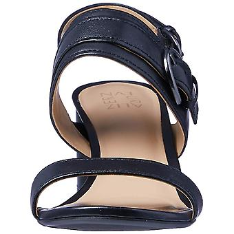 Naturalizer Womens Camden Leather Open Toe Casual Slide Sandals