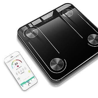 Electronic Weight Scale In The Home Bathroom With Digital Wifi And Bluetooth