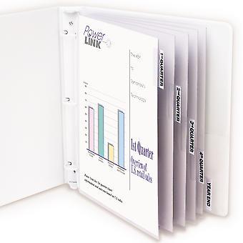 05557BNDL6ST, Protector de hojas de polipropileno con pestañas de índice, pestañas transparentes, 11 x 8 1/2, 5/ST (conjunto de 6 ST)