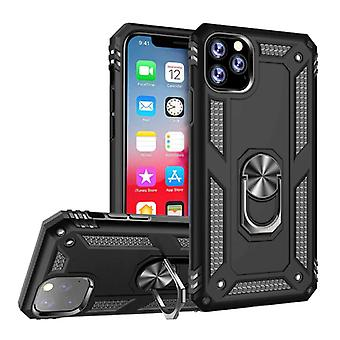 R-JUST iPhone 11 Pro Max Case - Shockproof Case Cover Cas TPU Black + Kickstand