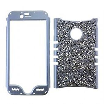 Rocker Snap-On tapauksessa iPhone 6/6S - Diamond Silver Border