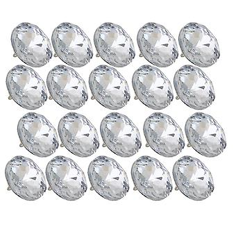 20pcs 25mm Size-2 Silver Color Round Crystal Sew Buttons