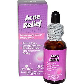 NatraBio, Acne Relief, 1 fl oz (30 ml)