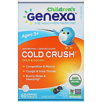 Genexa, Children's Cold & Cough, Cold Crush, Organic Acai Berry Flavor, Ages 3+,