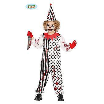 Traje de palhaço de zombie terror para crianças dia das bruxas