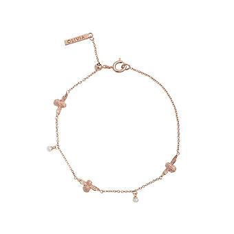 Olivia Burton Watches Obj16amb41 3d Bee Pearl Bracelet Rose Gold